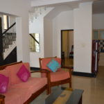 Living area of 3 BR villa for rent at Calangute
