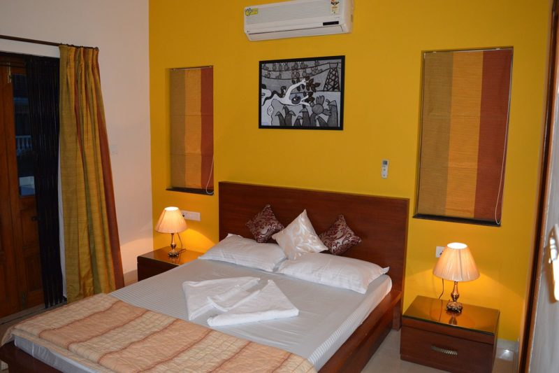 Bedroom view of 3 BR Villa for rent in Goa