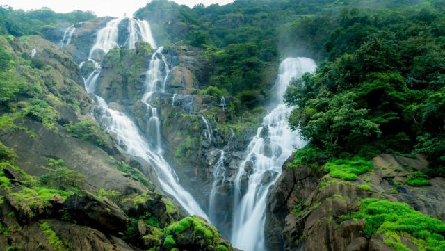 Dudhsagar Waterfalls Close up - Pic Courtesy Source